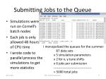 submitting jobs to the queue