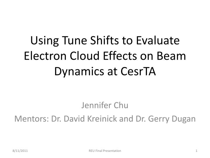 using tune shifts to evaluate electron cloud effects on beam dynamics at cesrta