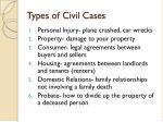 types of civil cases