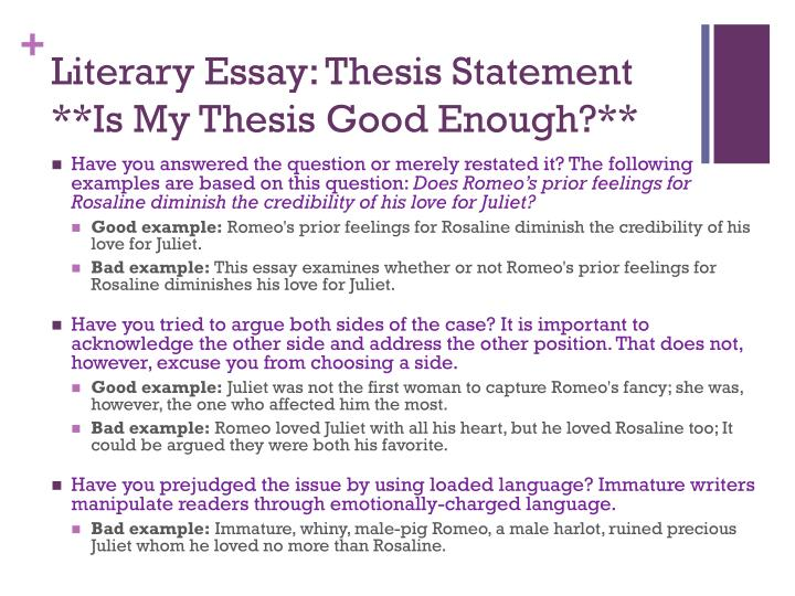 ppt  the  paragraph literary essay powerpoint presentation  id  literary essay thesis statementis my thesis good enough