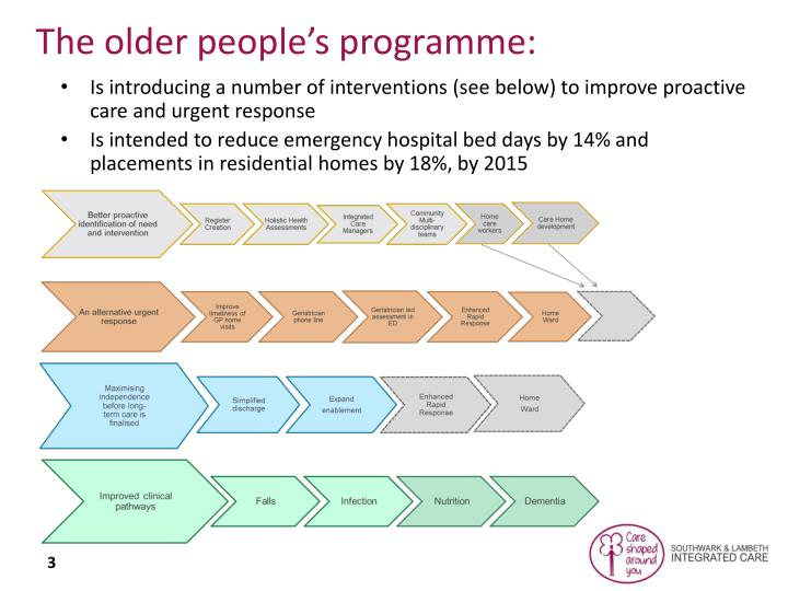 The older people's programme: