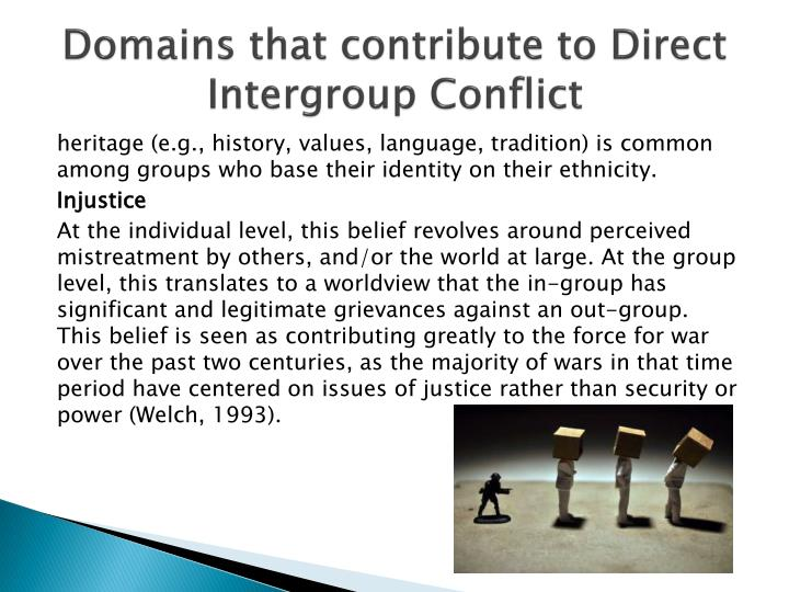 how to reduce prejudice and intergroup conflict How stereotypes, prejudice, and discrimination created and perpetuated the ongoing conflict psy 310 assignment 2: lasa 2 reducing intergroup conflict.