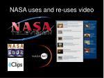 nasa uses and re uses video