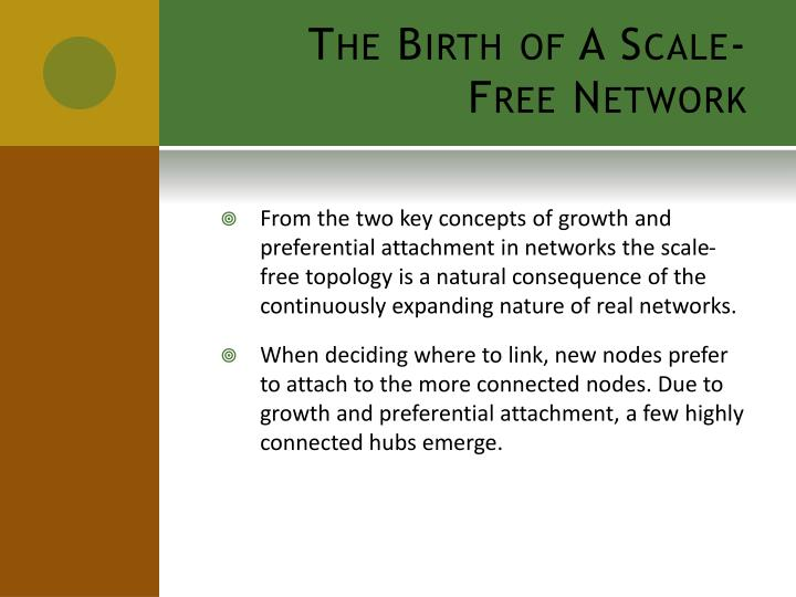 The Birth of A Scale-Free Network