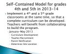 self contained model for grades 4th and 5th in 2013 14