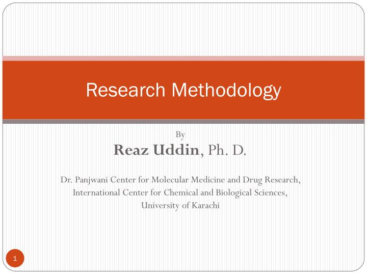 PPT - Research Methodology PowerPoint Presentation - ID:2601065