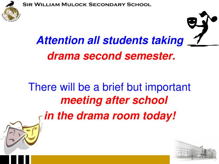 Attention all students