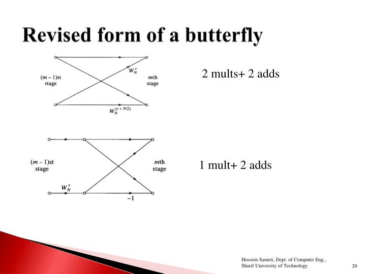 Revised form of a butterfly