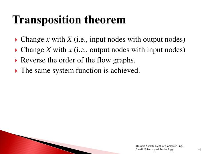 Transposition theorem
