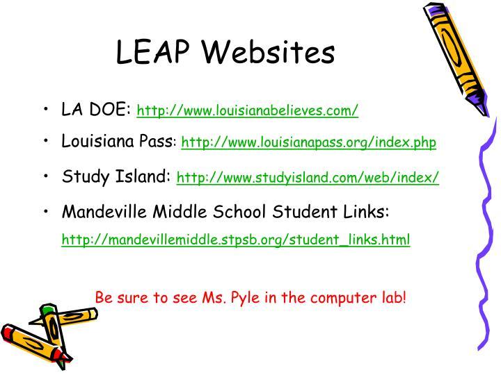 LEAP Websites