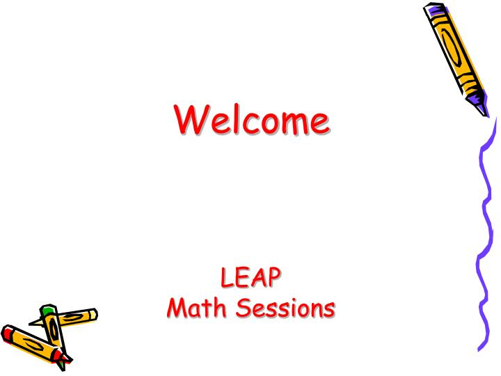 Welcome leap math sessions