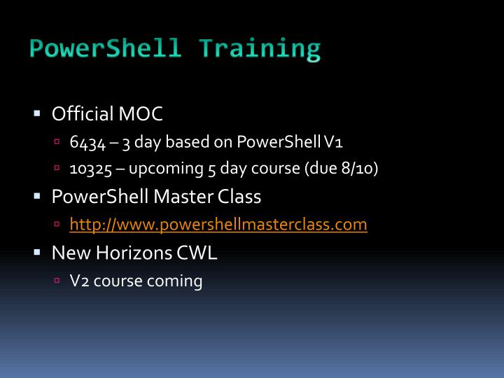 PowerShell Training
