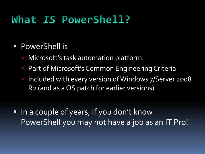 What is powershell