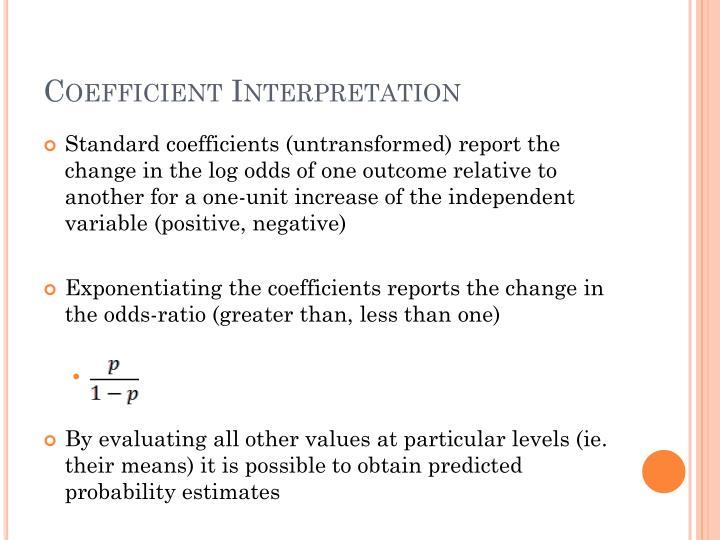 Coefficient Interpretation