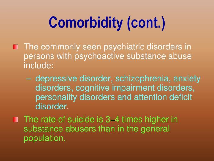 Comorbidity (cont.)