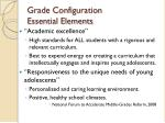 grade configuration essential elements1