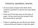 concerns questions worries