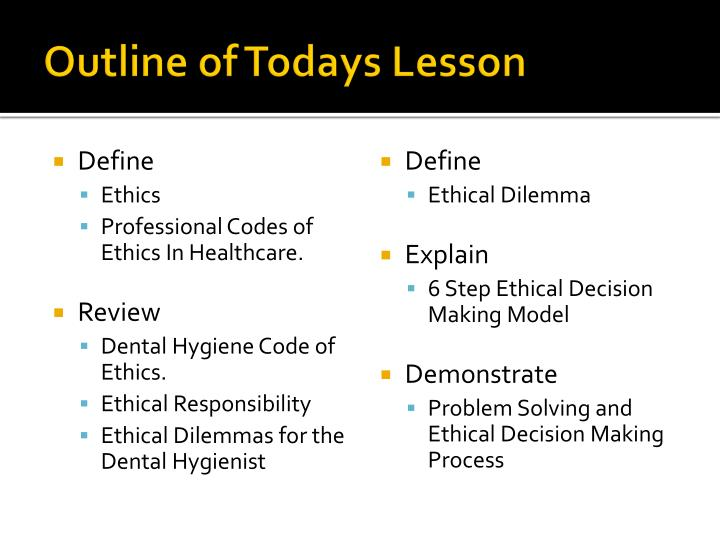 code of ethics and professional dilemma a Continuous self development is a pre-requisite in offering professional service at all times always be ethical ethical behavior is acting within certain moral codes in accordance with the.