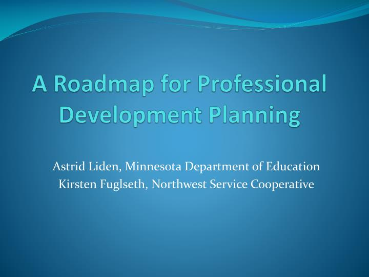 ppt - a roadmap for professional development planning powerpoint presentation