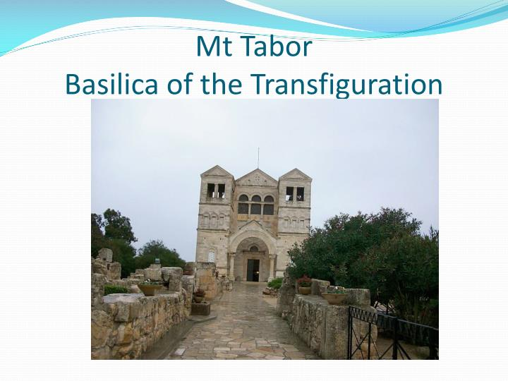 mt tabor basilica of the transfiguration n.