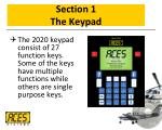 section 1 the keypad