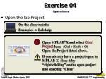 exercise 04 operators