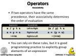 operators associativity