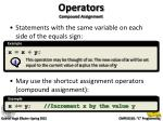 operators compound assignment