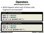 operators difference between and3