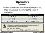 operators precedence3