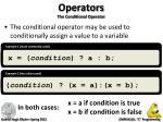 operators the conditional operator1