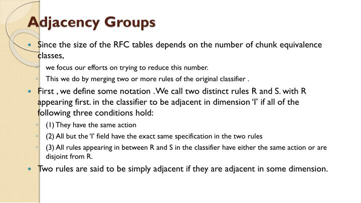 Adjacency Groups