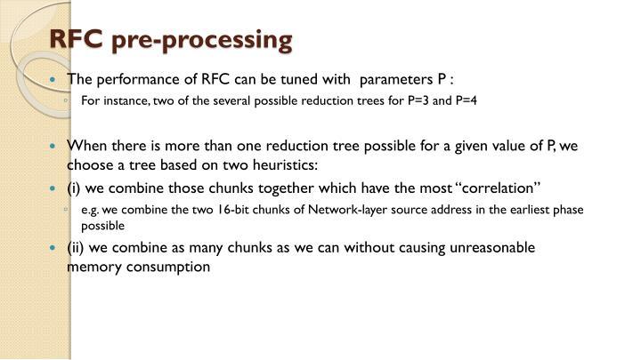 RFC pre-processing