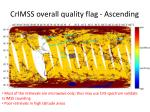 crimss overall quality flag ascending