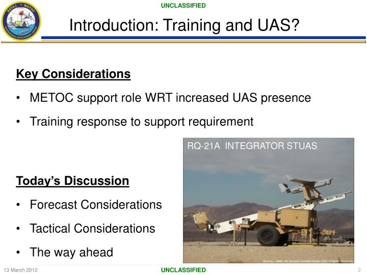 Introduction training and uas