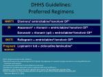 dhhs guidelines preferred regimens