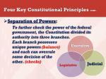 four key constitutional principles cont
