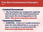 four key constitutional principles cont1