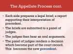 the appellate process cont
