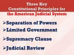 three key constitutional principles for the american judicial system