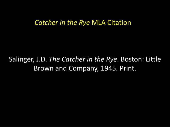 the catcher in the rye sentence structure The 1951 novel the catcher in the rye by j d salinger has had a lasting  influence as it  if you really want to hear about it from their album end is  forever takes its title from the novel's opening sentence  color without  structure.
