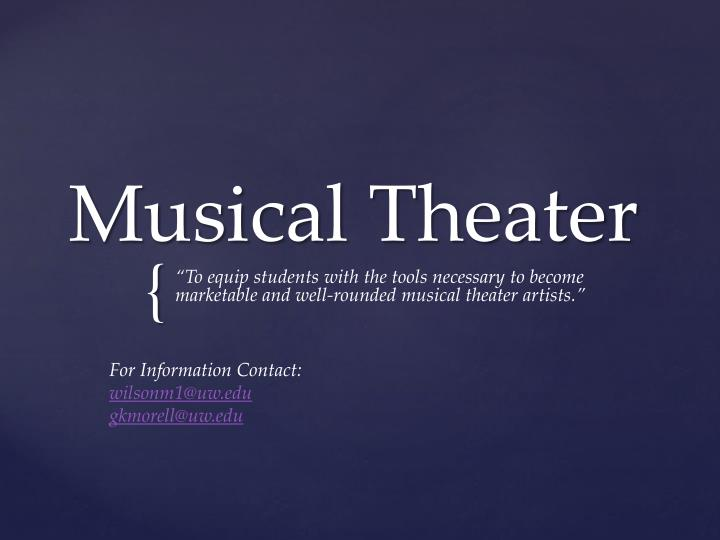 musical theater n.