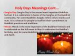 holy days meanings cont