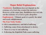 major belief explanations