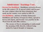 subdivisions teachings cont