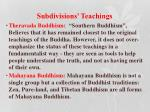 subdivisions teachings