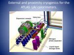 external and proximity cryogenics for the atlas lar calorimeters