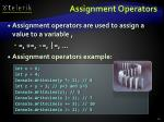 assignment operators