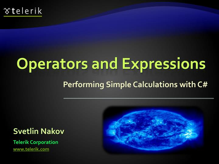 operators and expressions n.
