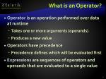 what is an operator